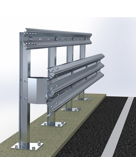 H4BP700   Barriere Autostradali Bordo Ponte   Imeva