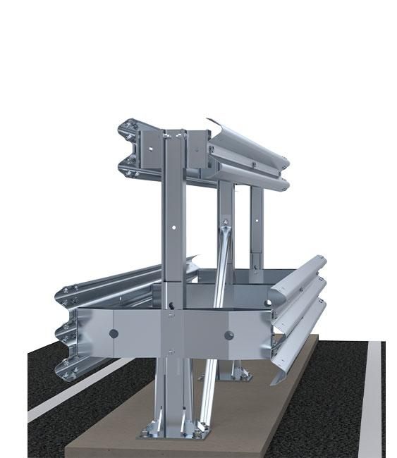 Autobahn | Verkehrsteiler-Schutzplanken auf Betonbasis